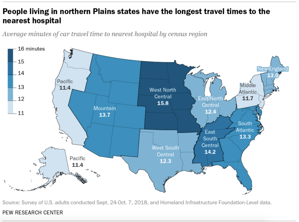 The Importance of America's Rural Hospitals Map